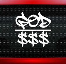 God Over Money Christian Car Decal Truck Window Sticker Rap Hip Hop (20 COLORS!)