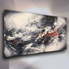 """Abstract Modern Art Painting """"Tragedy"""" Mounted Giclee Canvas Print  Mix Lang"""