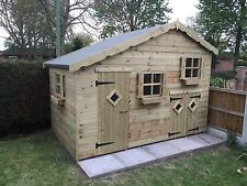 10 x 6 Two Storey Playhouse / Fully Pressure Treated FREE FITTING.