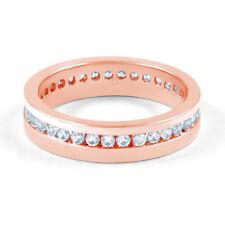 Anillos de joyería con diamantes en oro rosa de 18 quilates diamante