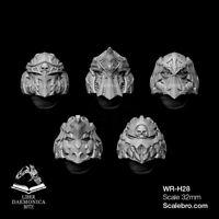 HELMETS TYPE GOLD 32mm by Liber Daemonica bitz resin kit