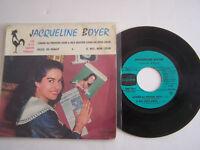 EP 45 T VINYL 4 TITRES , JACQUELINE BOYER , COMME AU PREMIER JOUR . VG - / VG