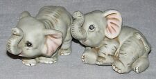 Homco Baby Elephants Figurines (2)