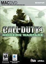 Call of Duty 4 Modern Warfare MAC Mac DVD Video Game (Mac 2008)