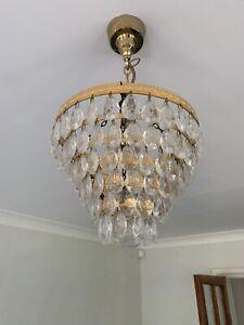 Vintage Glass Ceiling Lights Pair