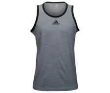 adidas Men's Basketball Heathered Tank Top grey / black S11542 Size 2XL