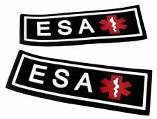 3D Rubber PVC ESA Patch Label Tag For Dog Harness Collar Vest