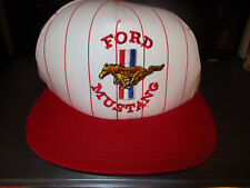 New W/O Tag Older Red Pinstripe FORD MUSTANG Logo Snapback Hat Made In USA