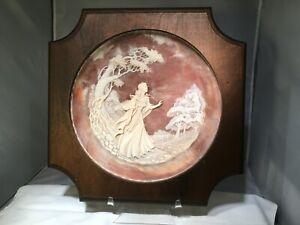 Vintage INCOLAY I STOOD TIPTOE Stone Plate 1983 ROGER AKERS CUSTOM Framed Poets