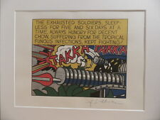 "Roy Lichtenstein ""Takka Takka"" Lithograph plate signed"