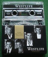 Westlife Tonight inc Miss You Nights + Bonus Track Cassette Tape Single - TESTED