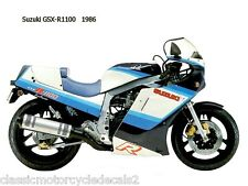 SUZUKI GSXR-1100G PAINTWORK RESTORATION DECAL SET 1986