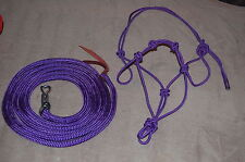STIFF 4-KNOT HALTER, 14' LEAD ROPE FOR PARELLI TRAINING METHOD, COLORS AVAILABLE
