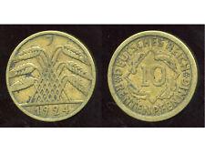 ALLEMAGNE 10  rentenpfennig  1924 J