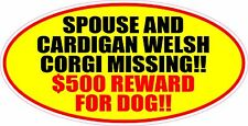 Spouse & Cardigan Welsh Corgi Missing Reward Sticker