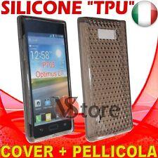 Cover Custodia Per LG Optimus L7 P700 Nero Gel Sicone TPU  + Pellicola Display