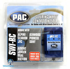 SWI-RC PAC STEERING WHEEL INTERFACE ALPINE CLARION JVC KENWOOD PIONEER SONY DUAL