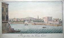 Cairo, Egitto, F.L. il Nord originale di rame inciso antico stampa 1755