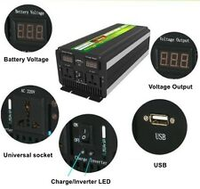3000W 6000W(peak) DC12V to AC220V 60Hz Power Inverter+Charger&UPS For Solar/Wind