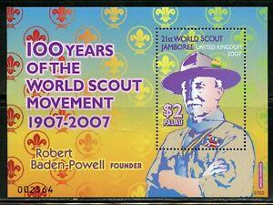 PALAU SCOTT# 875/876 100th ANN SCOUTING BADEN POWELL S/S SHEET MINT NEVER HINGED
