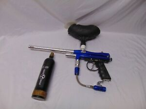Spyder TL-X Paintball Marker semi auto cal. 68 w/ canister  hopper Blue color