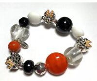 Disney Parks Minnie Mickey Mouse Glass Bead Bracelet Halloween NEW Free Ship