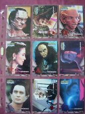 Star Trek DS9 Memories from the Future X9 Alien Races Chase cards Skybox 1999 VF