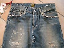 (396) RARE-The Kid Boys destroyed used look Jeans Hose Rocker Stahlnieten gr.152
