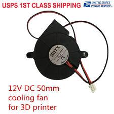 1Pc 12V DC 50mm Blow Radial Cooling Fan Extruder For 3D Printer