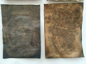 Pirate Treasure Map Aged Reproduction Print Picture - 2 Maps