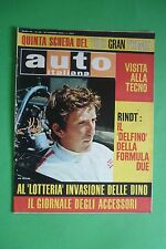 AUTO ITALIANA 26/1968 JO RINDT ANTIGNANO-MONTEBURRONE VITTORIO VENETO-CANSIGLIO