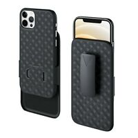 "Phone Holster Combo Case for iPhone 12 and iPhone 12 Pro (6.1"") Swivel Belt Clip"