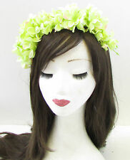 Light Pastel Green Wisteria Flower Headband Headpiece Headpiece Fascinator 963