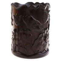 Pot à Pinceau Calligraphie Sculpté en Ébène Idéal Cadeau pour Amateur