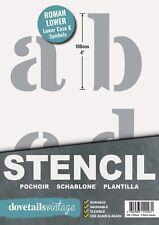 Groß Brief Schablone Set Römische Kleinbuchstaben & Symbole 100mm Hoch (10.2cm)