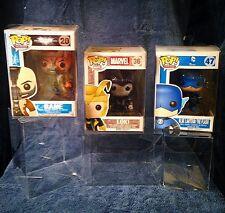 """100 FUNKO POP!  4"""" VINYL BOX PROTECTORS! PoP Clear Collector Cases pop funko"""