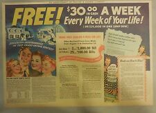 Oxydol Soap Ad: Free $30 a Week For Life Contest  ! from 1930's