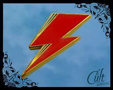 David Bowie Aladdin Sane metal and enamel Lightning Pin Badge Free UK post.