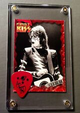 LOOK KISS Ace Frehley guitar pick from last tour / Elder image card display!!!