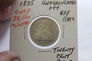1875   ONLY 38,500 MINTED  KEY DATE  UNC+++ TWENTY CENT PIECE