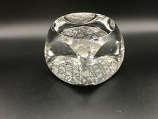 Very Heavy Signed Lorraine Crystal Paperweight 57.2 Ounces