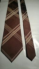 St Micheal Men's Vintage Tie in an Orange and White Abstract Pattern