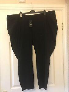 New Next Maternity Black Pull On Denim Jeans  Size 26