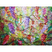 Ripe Grapes Countryside Vineyard Sunset Napa Valley Original Large Painting