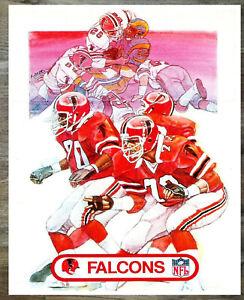 NFL Vintage Atlanta Falcons Reprint Color Picture 8 X 10  Photo