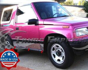 "1989-1998 Chevy/Geo Tracker 2Dr Rocker Panel Trim Body Side Molding 6Pc 6"""