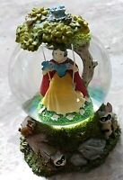 """Disney Snow White on a Swing Snow Globe with Animal Friends base 3"""" tall"""
