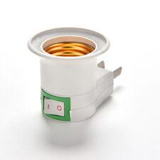 E27 LED Light Male Socket to US AU Type Plug Adapter Converter for Bulb Lamp TBC