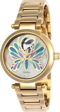 Invicta 24450 Angel Women's 35mm Gold-Tone Stainless Steel White Dial Automatic