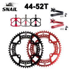SNAIL 104BCD 44-52T MTB Kettenblatt einzelnes ovale/runde Kettenrad + Pedale